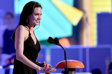 Angelina Jolie Celebrates Being Different at the Kids' Choice Awards