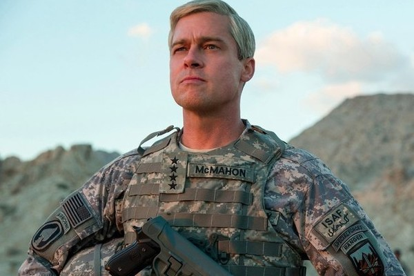 Brad Pitt in War Machine. (Netflix)