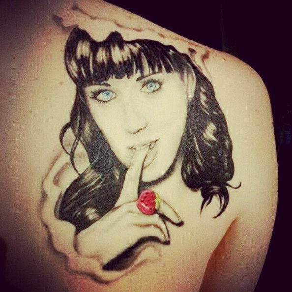 Katy Perry Face Tattoo Tattoos Of Famous Musicians Faces
