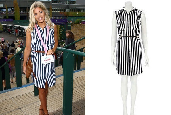 Seeing Stripes: Mollie King's Wimbledon Style