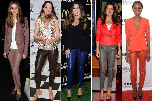 Trend to Try: Colored Skinny Leather Pants