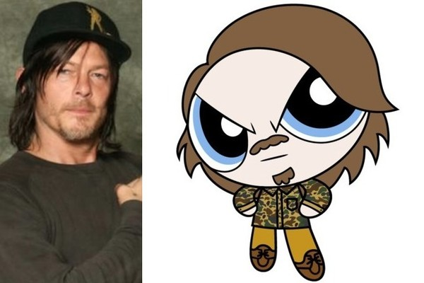 come see the heroes of the walking dead as powerpuff
