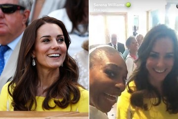 Kate Middleton Made Her Snapchat Debut With Serena Williams & It Was Glorious