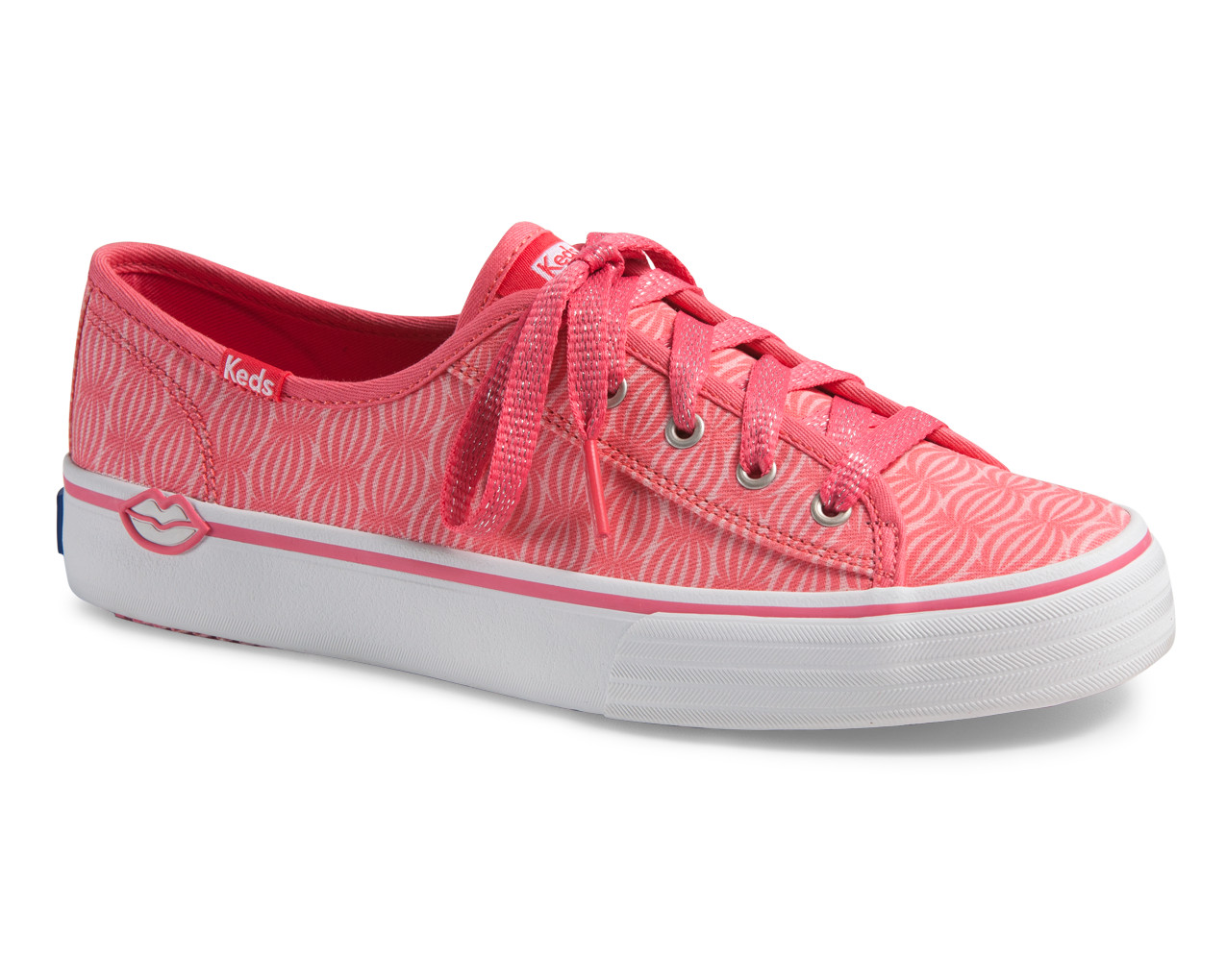 Keds Double Up EOS Sneakers in Pomegranate/Raspberry, $55, at shoecarnival.com