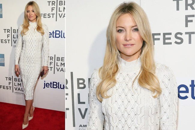 Kate Hudson's Elegant Sweater Dress