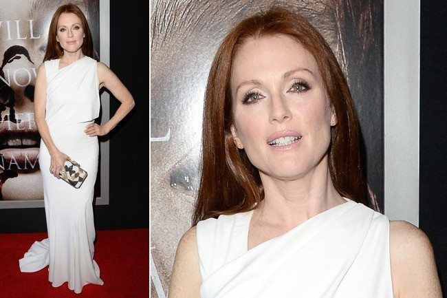 Julianne Moore's Pure White Elegance