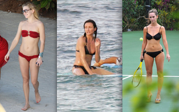 Flirtatious Stars Bare Bikini Bods. Isn't Hollywood fun?
