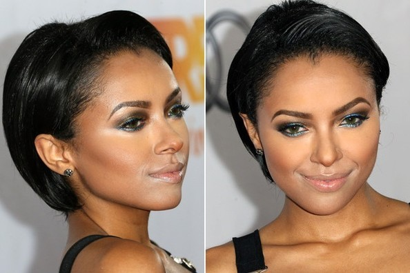 Kat Graham Makes Us Want to Buy Icy Blue Eyeliner Right NOW
