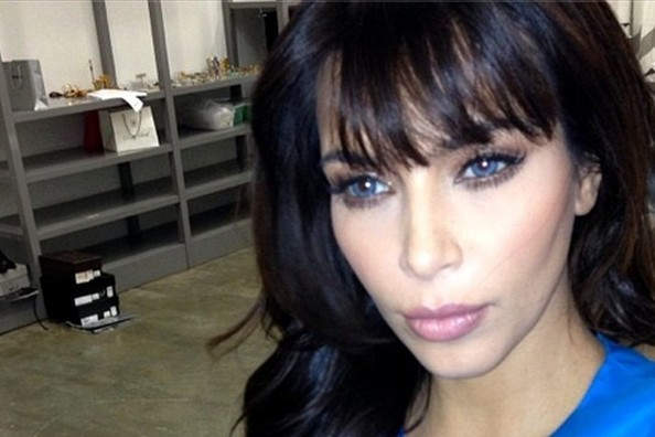 See Kim Kardashian With Blue Eyes!