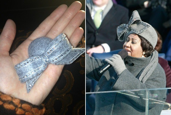 Katy Perry Shrunk Aretha Franklin's Famous Bow Hat, Brought it to the Inauguration