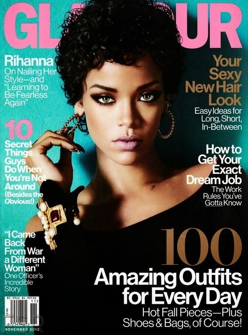 Rihanna Gets Her Curl On for 'Glamour', Miranda Kerr is Back on the Runway, and More
