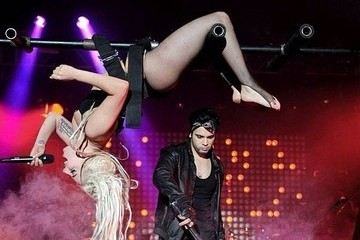 Lady Gaga Kicked Off Her SXSW Set Roasting on a Spit in Her Underwear, But of Course