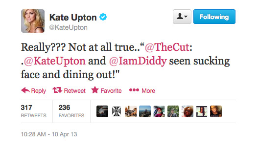 Everybody Relax: Kate Upton and Diddy Aren't Actually Dating