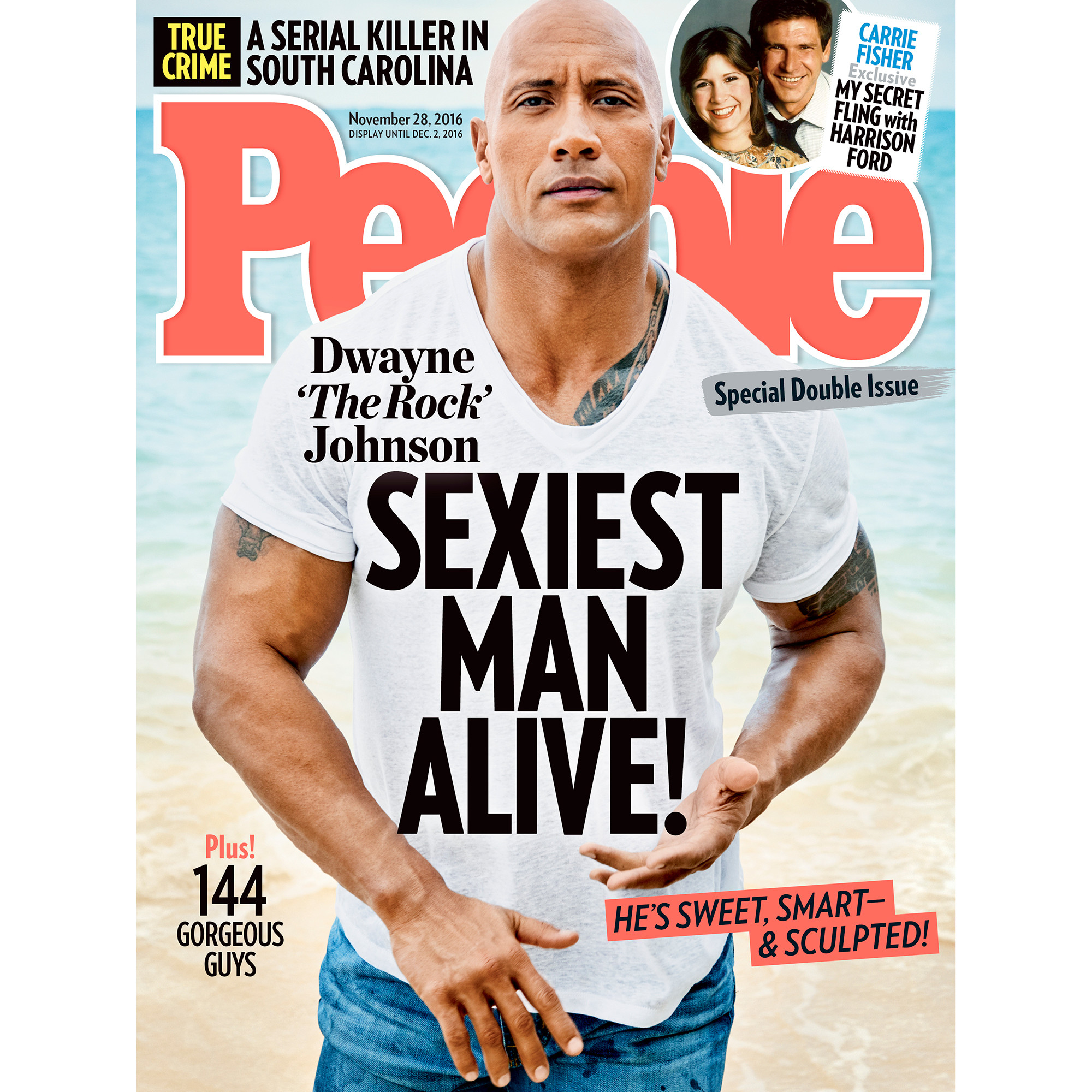 Dwayne 'The Rock' Johnson Is People's 'Sexiest Man Alive' in 2016
