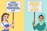 Disney Princesses Tackle Racism, Sexism, & Hatred in Honor of Women's March