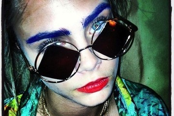 Cara Delevingne Dyed Her Eyebrows Blue—Is This The Next Thing in Rainbow Hair Color?