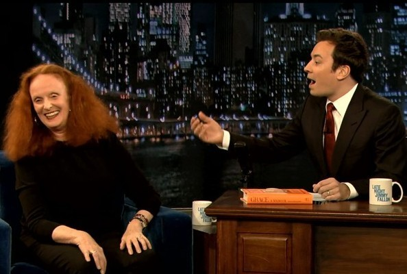 Grace Coddington Gives Jimmy Fallon The Best Gift Ever [VIDEO]