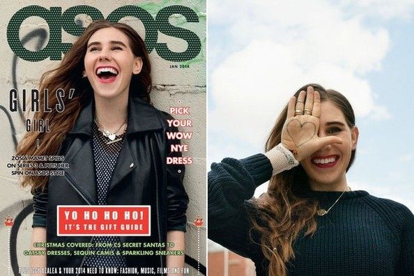 Girls' Zosia Mamet Covers ASOS