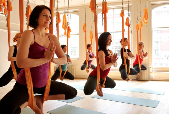 New Workout Trend: Fly Away With Aerial Yoga