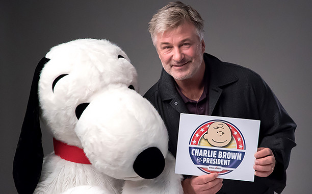 Alec Baldwin Encourages Young People to Vote...for Charlie Brown