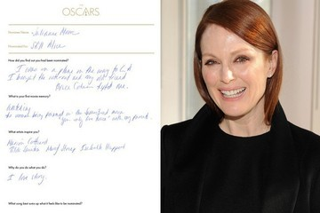 Handwritten Oscar Thoughts From This Year's Nominees