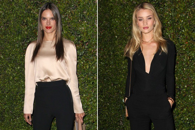 Chic Supermodel Showdown: Alessandra Ambrosio vs. Rosie Huntington-Whiteley