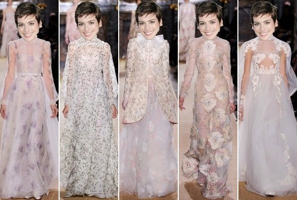 Wild Speculation of the Day: What Will Anne Hathaway's Valentino Wedding Gown Look Like?