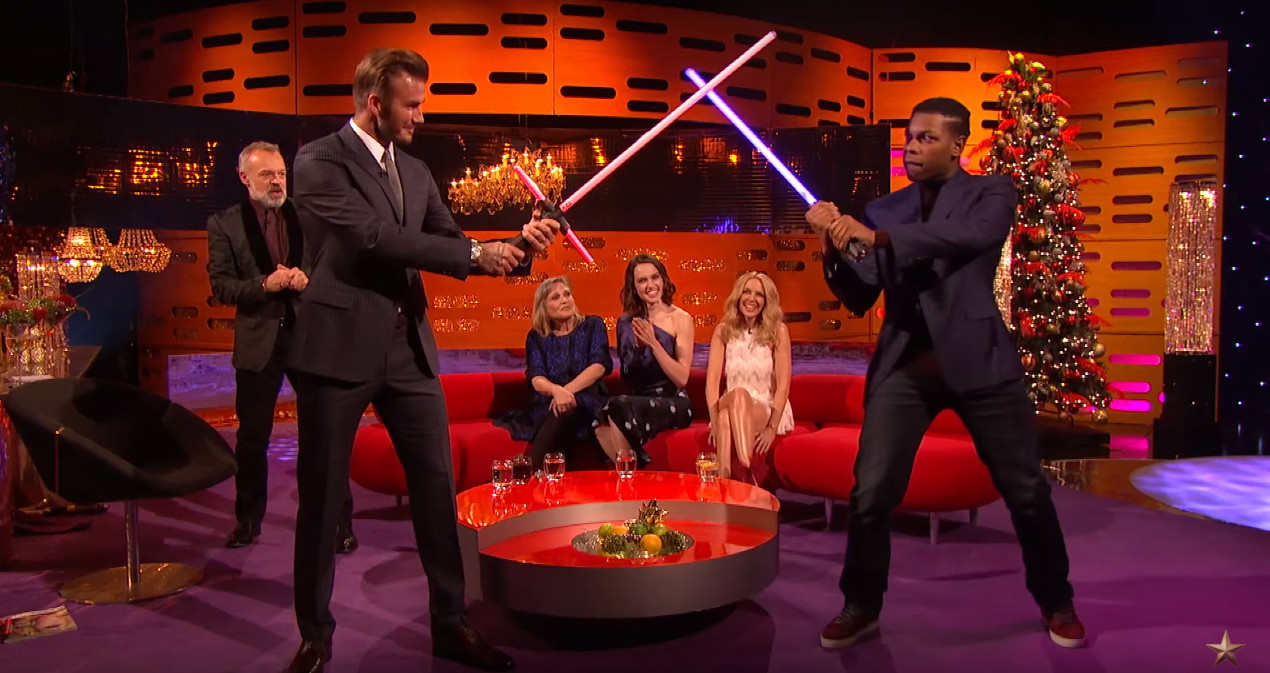 David Beckham Got into a Lightsaber Battle with 'Star Wars' Actor John Boyega