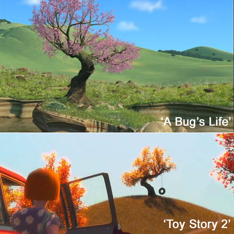 A Familiar Tree A Closer Look At Pixar S Many Easter Eggs Zimbio