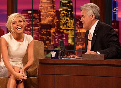 When Jay Leno dazzled her with his late night wit.