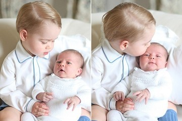 The First Official Photo of Princess Charlotte and Big Brother George Is Too Sweet