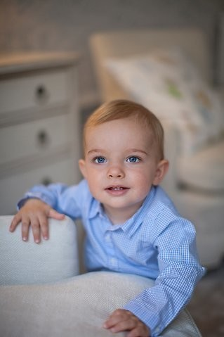 Prince Nicolas of Sweden may be growing, but hopefully he never outgrows those beautiful blue eyes.