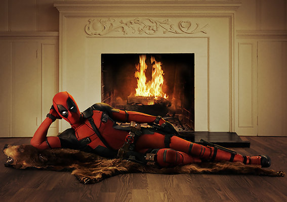 Ryan Reynolds Stretches Out on a Bearskin Rug in First 'Deadpool' Photo