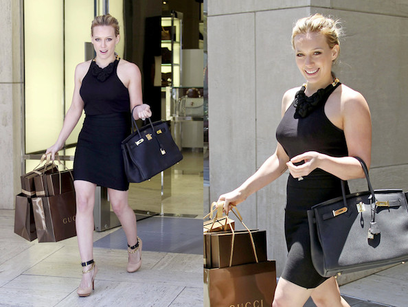 Hilary Duff Pulls a Posh in Beverly Hills