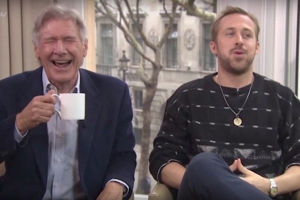 This Harrison Ford and Ryan Gosling Interview Goes Off the Rails in the Best Possible Way