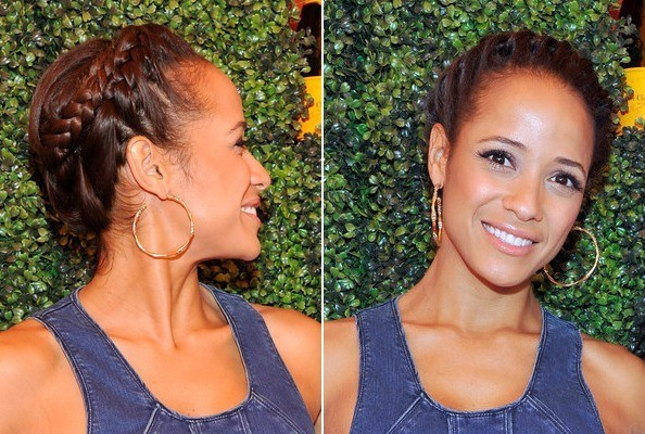 Braid of the Day: Dania Ramirez's Halo Braid