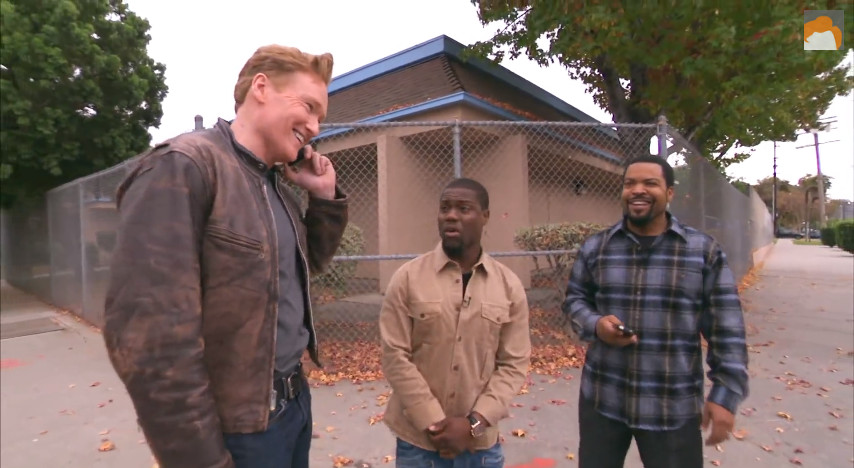 Ice Cube Kevin Hart And Conan Help A Student Driver  CONAN on TBS