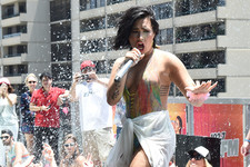 Demi Lovato Learned the Hard Way That Pools and Stages Don't Mix