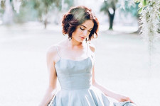 The Prettiest Blue Wedding Dresses on Instagram