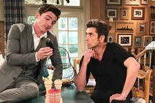 Drake Bell & John Stamos Hang Out on the Set of 'Fuller House'