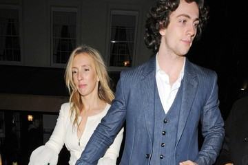 Aaron Johnson Aaron Johnson and Sam Taylor Johnson at the Chanel: The Little Black Jacket - dinner held at Loulou's in London