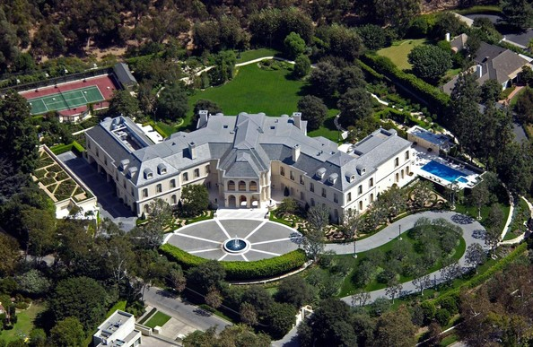 "Aaron Spelling FILE PHOTO dated Thursday, October 7, 2004. It is being reported that fashion designer Petra Ecclestone has made an offer to buy Candy Spelling's Holmby Hills mansion. Petra has reportedly offered $75 million, half of the original asking price, still making it one of the most expensive homes in the United States. Petra is the daughter of Bernie Ecclestone, the CEO of Formula One Management. ORIGINAL CAPTION: Candy Spelling, widow of entertainment mogul Aaron Spelling is placing ""The Manor"" in the exclusive Holmby Hills neighborhood on the market for a jaw-dropping $150 million, making it by far the most expensive home for sale in the U.S. The 6-acre mansion ""The Manor"" at 594 Mapleton Drive in Bel Air, Los Angeles, has 123 rooms, a bowling alley, swimming pool, gymnasium, tennis court, screening room and four 2-car garages. Spelling bought the property in 1983, a house that had belonged to Bing Crosby, He demolished the original house and built this mansion."