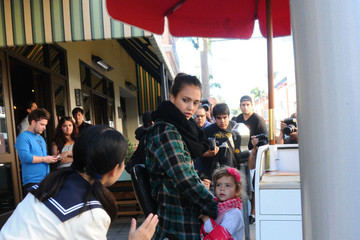 Honor Jessica Alba and Honor Out and About