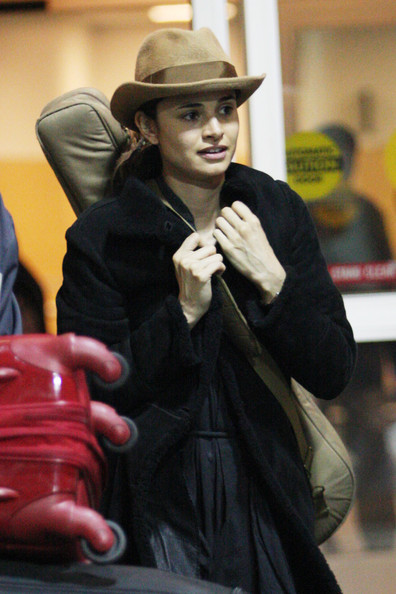 Argentinian actress Mia Maestro arrives in Vancouver carrying a guitar case as she continues filming the upcoming