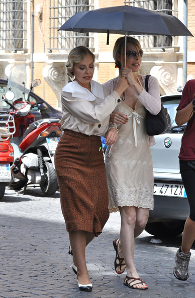 "Actress Ornella Muti on set of the new Woody Allen movie ""Bop Decameron"" in Italy.."