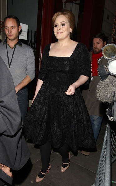 Adele Adkins Singer Adele leaves the 2010 Royal Variety Performance at the London Palladium Theatre in London.