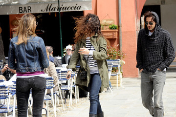 Valentina Micchetti Adrian Brody and Afef Jnifen Together in Italy