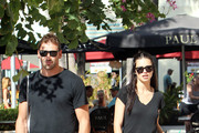 Victoria's Secret model Adriana Lima and husband Marko Jaric meet on Lincoln Road in Miami Beach, after Adriana leaves her Macbook Air at the Apple store for repair.  .