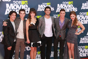 "The cast of ""Teen Wolf"" walk the red carpet at the 2011 MTV Movie Awards, held at Universal Studios' Gibson Amphitheatre."