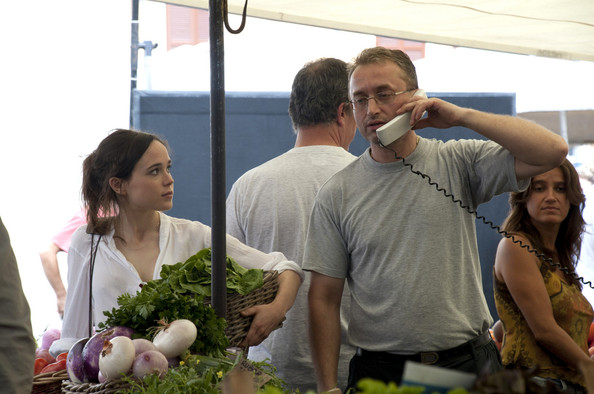 "Ellen Page joins the star-studded cast of the new Woody Allen movie ""Bop Decameron""  filming all afternoon at the fruit and vegetable market in Rome."